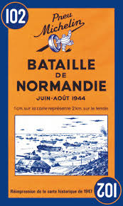Normandy Map Michelin Battle Of Normandy Map No 102 Michelin 8601200922387