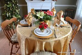 pretty poinsettia tablescape my island bistro kitchen