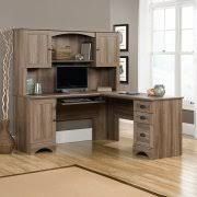 oak computer desk hutch