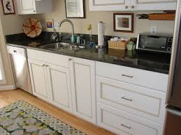granite countertop roll out cabinet drawer backsplash mosaic