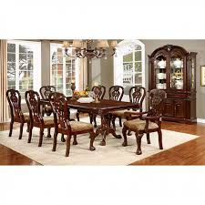 cherry kitchen table set elana traditional brown cherry finish dining table set shop for