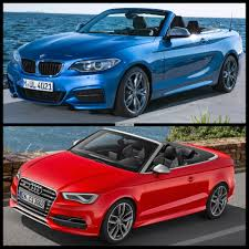 audi a3 vs bmw 3 series audi s3 cabrio vs bmw m235i convertible comparison