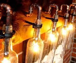 Wine Bottle Light Fixtures Recycled Wine Bottle Light
