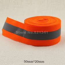 fabric ribbon orange 50mm 20mm w reflective fabric ribbon webbing