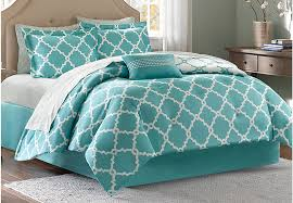 Comforter Sets Images Merritt Aqua 9 Pc Queen Comforter Set Queen Linens Blue