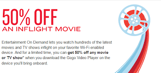 gogo introduces inflight entertainment with a 50 coupon