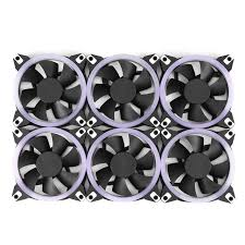 120mm rgb case fan new 6pcs pc fan rgb adjust led 120mm quiet ir remote new