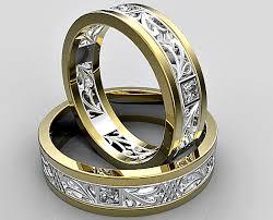 unique wedding rings for unique diamond matching wedding ring set vidar jewelry unique