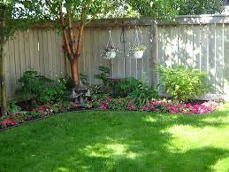 backyard fence landscaping ideas home outdoor decoration