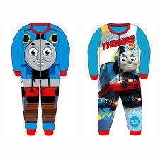 thomas the tank engine all in one soft fleece sleep suit pyjamas