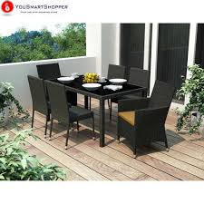 7pc Patio Dining Set Sonax Z 406 Tpp Park Terrace Black Weave 7pc Patio Dining Set Ebay