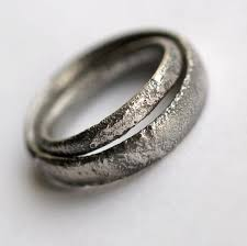 matching rings rustic wedding bands set oxidized sterling silver matching rings