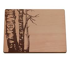 cutting board personalized personalized cutting board birch trees handmade