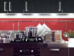 black red kitchen backsplash ideas glass tile pictures