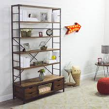 Metal And Wood Bookshelves by Metal Bookcase And Ladder World Market