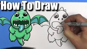 how to draw a baby dragon from clash royale step by step