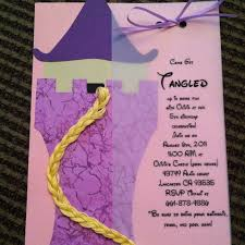 birthday invites terrific tangled birthday invitations design