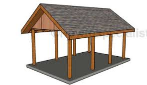 Car Port Plans Flat Roof Double Carport Plans Howtospecialist How To Build