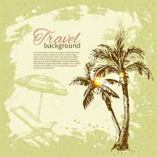 Tropical Design Travel Hand Drawn Vintage Tropical Design Splash Blob Retro