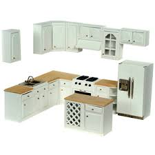 dollhouse furniture kitchen complete modern dollhouse kitchen set it s a miniature world