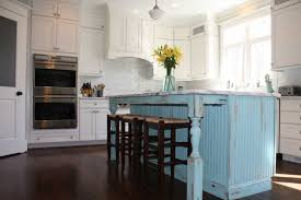 shabby chic kitchen island with blue color ideas home interior