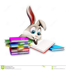 easter bunny book bunny reading a books stock image image 36188201