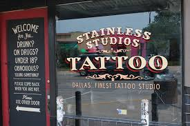 stainless studios painted sign by studios graphics