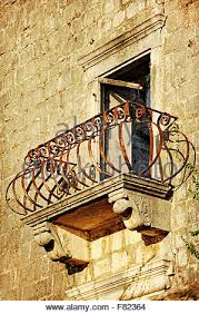wrought iron balcony detail on exterior of gloucester place