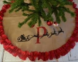 burlap tree skirt christmas tree skirt etsy