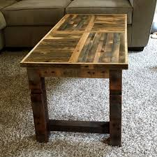 diy coffee table made of oak pallets 101 pallet ideas