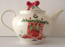 lenox teapot present tree porcelain