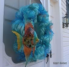 Ribbon Metal Wall Decor Deco Mesh Wreath Ribbon Wreath Summer Wreath Door Decor Aftcra