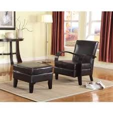 Brown Leather Chair With Ottoman Chair U0026 Ottoman Sets Living Room Chairs Shop The Best Deals For