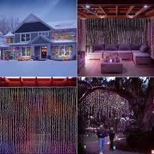 amazon com led concepts 300 led curtain string icicle fairy