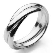 russian wedding band 925 sterling silver russian wedding ring 3 x 3mm bands size k