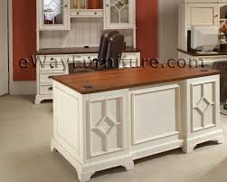 Country Home Office Furniture by Distressed White 66 Inch Executive Home Office Desk