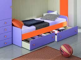 letto cassetti letto singolo con rete a doghe e cassettoni o seconda rete