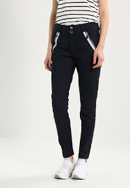 mos mosh mos mosh milton grace pant trousers navy zalando co uk