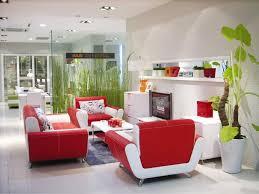 Interior Livingroom Red And White Interior Design For A More Vibrant Home
