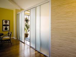 mirrored sliding room dividers glass door home office partitions