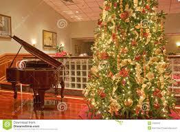 christmas tree and piano royalty free stock image image 7440576