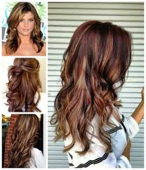 brown hair blonde red highlights women medium haircut