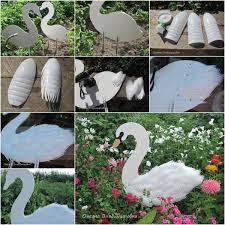 swan garden decorations using plastic bottles find fun art