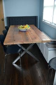 dining table rustic iron dining table rustic wood and metal