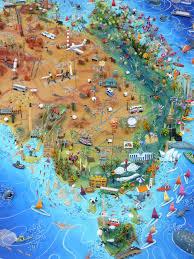 Giant Map Australia Map U2014 Sara Drake