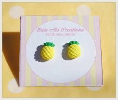 polymer clay stud earrings polymer clay pineapple stud earrings cuteascreations madeit au