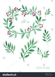 floral decor set vector watercolor design stock vector 230008642