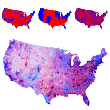 United States Population Distribution Map by Coloring The 2012 Electoral Map By County Population Density And