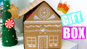 house gift diy gingerbread house gift box easy gift wrap ideas holiday