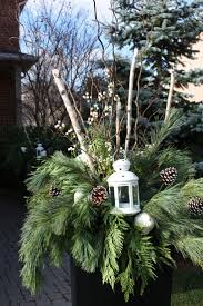 Christmas Decorations Outdoor by Best 25 Christmas Planters Ideas On Pinterest Outdoor Christmas